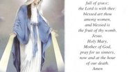 Acknowledge Mary As Our True Mother