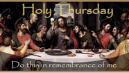 Holy Thursday.-Last Supper. Not me Lord. Chaplet of Divine Mercy and novena of Divine Mercy