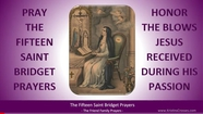 What are the 15 Promises from Jesus to St Bridgett of Sweden?